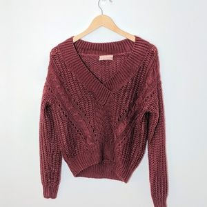 Urban Outfitters   Burnt Orange Cable Knit Sweater